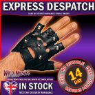 FANCY DRESS ACCESSORY ~ ADULT SINGLE STUDDED BLACK GLOVE RIGHT HAND ONLY